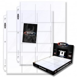 BCW PRO 9-POCKET PAGE (100 CT. BOX)