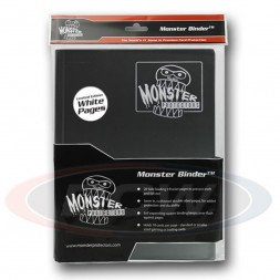 MONSTER PROTECTORS 9-POCKET - BLACK WITH WHITE PAGES