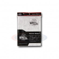 MONSTER PROTECTORS 9-POCKET - MARBLE WHITE WITH WHITE PAGES