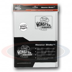 MONSTER PROTECTORS 9-POCKET - WHITE WITH WHITE PAGES