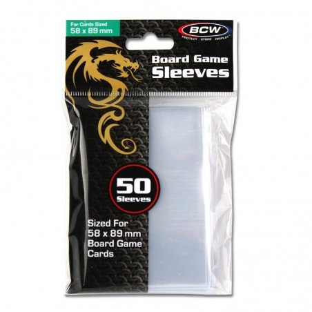 BOARD GAME SLEEVES - 58MM X 89MM
