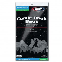 RESEALABLE CURRENT COMIC BAGS