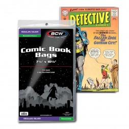 RESEALABLE SILVER COMIC BAGS