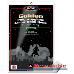 RESEALABLE GOLDEN COMIC BAGS